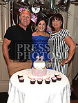 Emma Maher celebrating her 21st birthday in The Thatch with parents James and Marie. Photo:Colin Bell/pressphotos.ie
