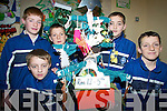 RECYCLABLE: Some of the pupils of CBS Primary School in Tralee who made Christmas trees out of recyclable materials, l-r: Sean Ryan, Derek Hogan, Lucas Cronin, Klaudio Dema, Stephen Reidy.   Copyright Kerry's Eye 2008