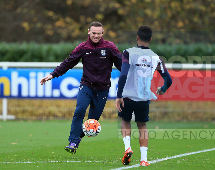 England's Wayne Rooney in action during training<br /> <br /> England Training - Tottenham Hotspur Training Ground - England - 16th November 2015 - Picture David Klein/Sportimage