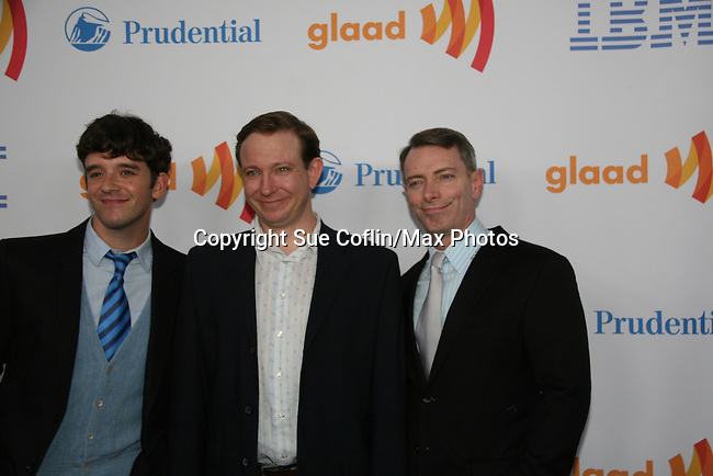 The Temperamentals - Michael Urie - Matthew Schneck - Arnie Burton at the 21st Annual GLAAD Media Awards on March 13, 2010 at the New York Marriott Marquis, New York City, NY. (Photo by Sue Coflin/Max Photos)