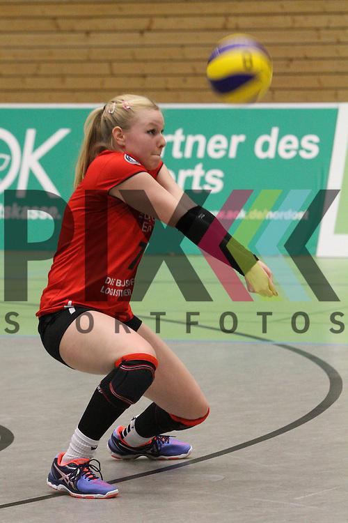 Koepenicks Anna Pogany  beim Spiel in der Volleyball Frauen 1. Bundesliga Pre Play Offs, Koepenicker SC Berlin  - VT Aurubis Hamburg .<br /> <br /> Foto &copy; PIX-Sportfotos *** Foto ist honorarpflichtig! *** Auf Anfrage in hoeherer Qualitaet/Aufloesung. Belegexemplar erbeten. Veroeffentlichung ausschliesslich fuer journalistisch-publizistische Zwecke. For editorial use only.