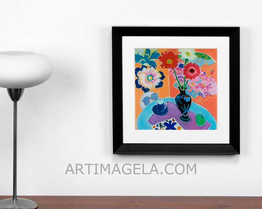 Majoli: Still Life, Digital Print, , Framed Dims. Black, Off White Mat, <br /> Artist:<br /> In House Rentals: Contemporary<br /> Reference #<br /> 2526_015_01dp<br /> Title<br /> Majoli: Still Life<br /> Dims.<br /> 18.5&quot; x 18.5&quot; x 1.5&quot; <br /> Frame:<br /> Black, Off White Mat <br /> Medium:<br /> Digital Print <br /> Price<br /> Available upon request