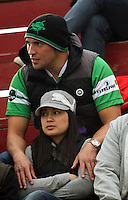 Nervous Manawatu fans during the Air NZ Cup rugby match between Manawatu Turbos and Counties-Manukau Steelers at FMG Stadium, Palmerston North, New Zealand on Sunday, 2 August 2009. Photo: Dave Lintott / lintottphoto.co.nz