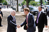U.S. Sen. John McCain (R-AZ) (L) greets HRH Prince Harry before touring an anti-landmine photography exhibition by The HALO Trust charity during the first day of his visit to the United States at the Russell Senate Office Building on May 9, 2013 in Washington, DC. .Credit: Olivier Douliery / CNP