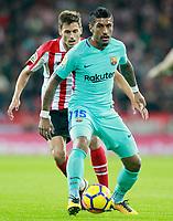 Athletic de Bilbao's Ander Iturraspe (l) and FC Barcelona's Paulinho during La Liga match. October 28,2017. (ALTERPHOTOS/Acero) /NortePhoto.com