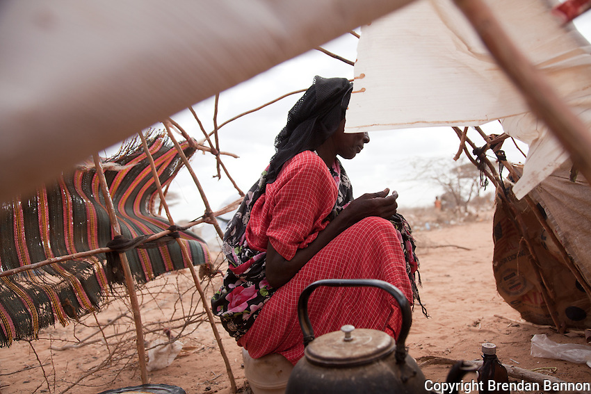 Habiba Issacc, a Somali refugee from Dinsor, made a four day jounery by  truck to Dadaab refugee camp with her husband and 2 children in May 2011.