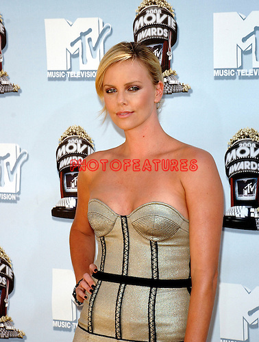 Charlize Theron arriving at the 2008 MTV Movie Awards at the Gibson Amphitheatre in Los Angeles, June 1st 2008..Photo by Chris Walter/Photofeatures