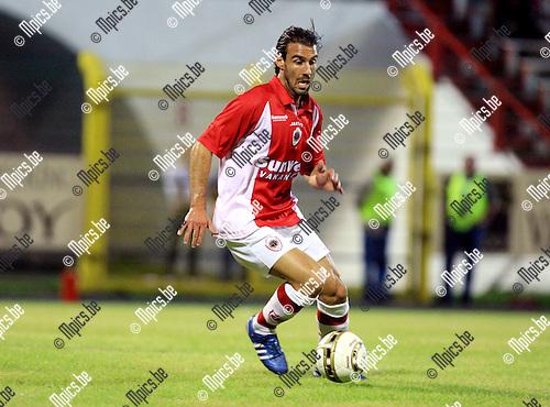 2010-08-14 / Voetbal / seizoen 2010-2011 / Antwerp - Givry / Stavros Glouftsis..Foto: mpics