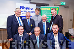 Seated, L-R Gavin O'Connor,Childrens officer, NKHB, Pat Dineen, Chairperson, Brendan O'Neill, Rhyno Feeds. Back L-R Joe Walsh, Secretary, NKHB, Paudie Dineen, County officer, David Clifford,Kerry senior footballer,and  guest speaker, Tony Lawlor, PC officerNKHB and Tim Murphy, Chairperson of the Kerry County Board at the North Kerry hurling awards night in the Ballyroe heights hotel, Tralee last Friday.