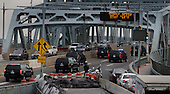 United States President-elect Donald Trump's motorcade crosses part of the Robert F. Kennedy bridge en route to LaGuardia Airport for a trip to Ohio in New York, New York, USA, 08 December 2016.<br /> Credit: Justin Lane / Pool via CNP