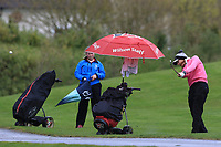 Chiara Noja (GER) on the 1st fairway during Round 1 of the Irish Girls U18 Open Stroke Play Championship at Roganstown Golf &amp; Country Club, Dublin, Ireland. 05/04/19 <br /> Picture:  Thos Caffrey / www.golffile.ie