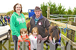 Peggy, Noel Delaney Kenmare and Katie O'Connor and John O'Shea Ventry looking at the ponies at the Kerry Bog Pony show in the Red Fox Inn, Glenbeigh on Saturday