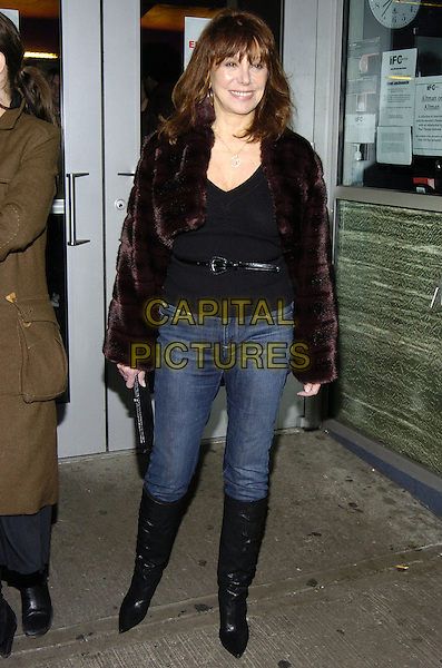 """MARLO THOMAS.Premiere of """"East of Havana"""" at IFC Center, New York, New York, USA..February 1st, 2007.full length jeans denim tucked into black boots brown fur coat.CAP/ADM/BL.©Bill Lyons/AdMedia/Capital Pictures *** Local Caption ***"""