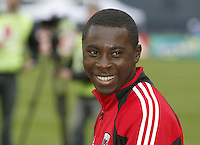 3 April 2004: Freddy Adu smiles before the game against Earthquakes at RFK Stadium in Washington D.C..  Credit: Michael Pimentel / ISI