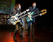 "MIAMI, FL - FEBRUARY 09: Ron ""Bumblefoot"" Thal and Billy Sheehan of Sons Of Apollo perform during the Monsters Of Rock pre cruise concert at The Magic City Casino on February 9, 2018 in Miami, Florida. Credit Larry Marano © 2018"