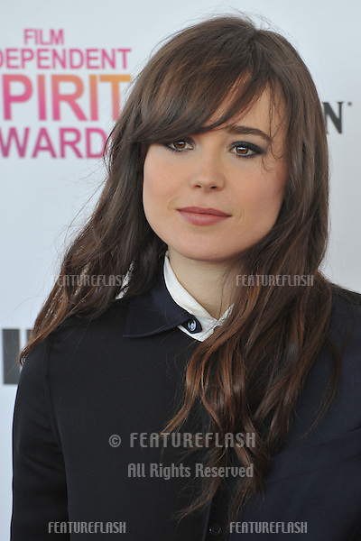 Ellen Page at the 2013 Film Independent Spirit Awards on the beach in Santa Monica..February 23, 2013  Santa Monica, CA.Picture: Paul Smith / Featureflash