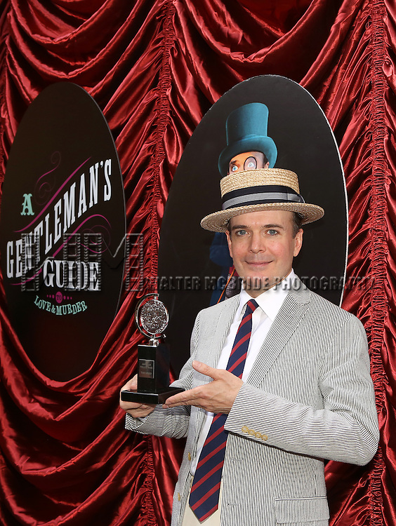 Jefferson Mays  during the cast and fan Tony Award celebration outside 'A Gentleman's Guide to Love and Murder'  at Walter Kerr Theatre on June 18, 2014 in New York City..
