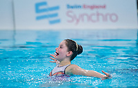 Picture by Allan McKenzie/SWpix.com - 26/11/2017 - Swimming - Swim England Synchronised Swimming National Age Group Championships 2017 - GL1 Leisure Centre, Gloucester, England - Evie Walker.