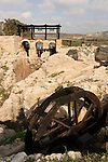 Israel, Carmel Coast Plain. A Roman flour mill by the dam at Taninim stream nature reserve