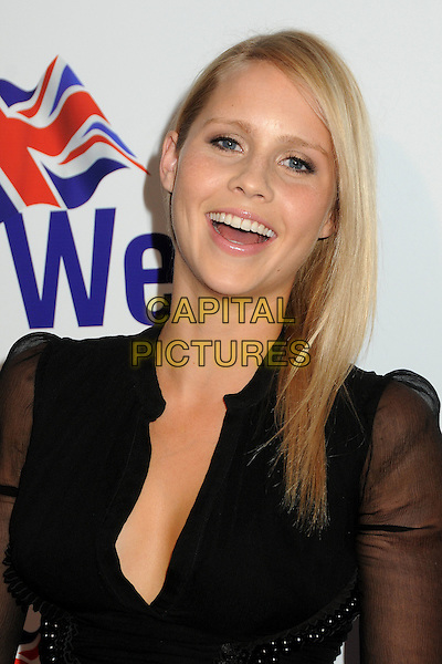 Claire Holt.BritWeek 2012 Official Launch held at a Private Residence, Los Angeles, California, USA..April 24th, 2012.headshot portrait black sheer top blouse  smiling mouth open.CAP/ADM/BP.©Byron Purvis/AdMedia/Capital Pictures.