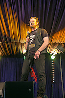19th July 2014: Canadian Comedian Glenn Wool plays the Comedy Arena on the third day of the 9th edition of the Latitude Festival, Henham Park, Suffolk. <br /> Picture by Stuart Hogben