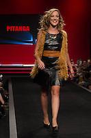 S&Atilde;O PAULO-SP-03.03.2015 - INVERNO 2015/MEGA FASHION WEEK -Andrea Birolli/Grife Pitanga<br /> O Shopping Mega Polo Moda inicia a 18&deg; edi&ccedil;&atilde;o do Mega Fashion Week, (02,03 e 04 de Mar&ccedil;o) com as principais tend&ecirc;ncias do outono/inverno 2015.Com 1400 looks das 300 marcas presentes no shopping de atacado.Br&aacute;z-Regi&atilde;o central da cidade de S&atilde;o Paulo na manh&atilde; dessa segunda-feira,02.(Foto:Kevin David/Brazil Photo Press)