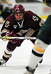 "19 January 2007: Boston College forward Pat Gannon from Arlington, MA, in action during a Hockey East matchup against the University of Vermont at Gutterson Fieldhouse in Burlington, Vermont. The UVM Catamounts defeated the BC Eagles 3-2 before a record setting 50th consecutive sellout at ""the Gut""...Mandatory Photo Credit: Ed Wolfstein Photo."