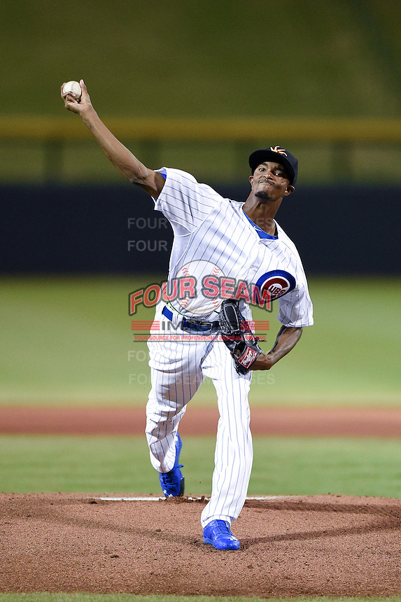 Mesa Solar Sox pitcher C.J. Edwards (8) during an Arizona Fall League game against the Surprise Saguaros on October 10, 2014 at Cubs Park in Mesa, Arizona.  Surprise defeated Mesa 14-3.  (Mike Janes/Four Seam Images)