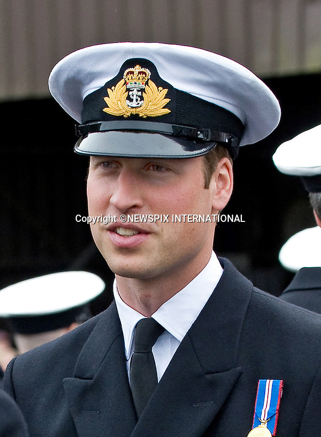 """PRINCE WILLIAM.Commodore-in-Chief, Scotland and Commodore-in-Chief, Submarines,  presented Gold Deterrent Pins to Submariners, attended a dedication service and officially named the base as the 'Home of the Submarine Service' during his visit to HM Naval Base Clyde, Faslane, Dunbartonshire..The Gold Deterrent pin is awarded to operational naval officers, who have undertaken 20 or more tours of duty. Prince William will present 22 sailors with the Gold Deterrent Pin. _17/10/2010.Mandatory Credit Photo: ©Arthur/NEWSPIX INTERNATIONAL..**ALL FEES PAYABLE TO: """"NEWSPIX INTERNATIONAL""""**..IMMEDIATE CONFIRMATION OF USAGE REQUIRED:.Newspix International, 31 Chinnery Hill, Bishop's Stortford, ENGLAND CM23 3PS.Tel:+441279 324672  ; Fax: +441279656877.Mobile:  07775681153.e-mail: info@newspixinternational.co.uk"""