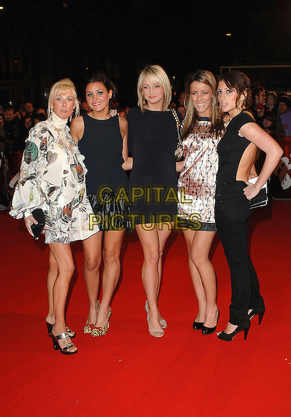 WAG'S BOUTIQUE GIRLS - NICOLA T (second from right).attending the 2007 Brit Awards, Earls Court, London, England,14th February 2007..full length wives and girfriends of footballers.CAP/BEL.©Tom Belcher/Capital Pictures.
