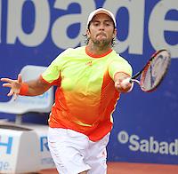 28.04.2012 Barcelona, Spain. ATP Barcelona Open Banc Sabadell, Semifinal. Match between Rafael Nadal v Fernando Verdasco. Picture show Fernando Verdasco