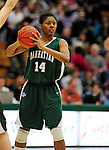 5 December 2009: Manhattan College Jaspers' forward Nadia Peters, a Sophomore from the Bronx, NY, in action against the University of Vermont Catamounts at Patrick Gymnasium in Burlington, Vermont. The Catamounts defeated the visiting Jaspers 78-59 to mark the Lady Cats' second home win of the season. Mandatory Credit: Ed Wolfstein Photo