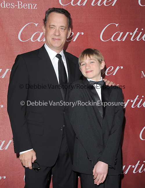 Tom Hanks and Thomas Horn attends the 2012 Palm Springs International Film Festival Awards Gala held at The Palm Springs Convention Center in Palm Springs, California on January 07,2012                                                                               © 2012 Hollywood Press Agency