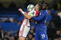 Dusan Tadic of Ajax controls the ball under pressure from Chelsea's Fikayo Tomori during Chelsea vs AFC Ajax, UEFA Champions League Football at Stamford Bridge on 5th November 2019