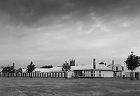 Henley-on-Thames. United Kingdom.  &ldquo;The Lull before the Storm&rdquo;. Tuesday, &ldquo;Lion Field car park and picnic area&rdquo; empty and quite before the Regatta &quot;Kick off&quot; Wednesday2017 Henley Royal Regatta, Henley Reach, River Thames. <br /> <br /> 06:49:05  Tuesday  27/06/2017   <br /> <br /> [Mandatory Credit. Peter SPURRIER/Intersport Images.