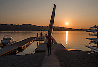Varese. Lombardia. ITALY. General View.  Sun Set, Crews returning from afternoon Training on Lake/Lago Varese. [Varese Rowing Club]. [Canottieri Varese]<br /> <br /> Tuesday  03/01/2017<br /> <br /> [Mandatory Credit; Peter Spurrier/Intersport-images]<br /> <br /> <br /> LEICA CAMERA AG - LEICA Q (Typ 116) - 1/4000 - f2.8