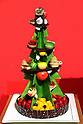 "October 12, 2017, Tokyo, Japan - A Christmas tree shaped Christmas cake ""Sapin de Noel"" priced 18,000 yen is displayed at a press preview for the Prince Hotels chain's Christmas cake collection at the Prince Park Tower hotel  in Tokyo on Thursday, Octoebr 12, 2017. The hotel chain started to accept orders and will deliver before Christmas Day.   (Photo by Yoshio Tsunoda/AFLO) LWX -ytd-"