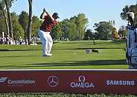 Patrick Reed (Team USA) on the 14th tee during Saturday afternoon Fourball at the Ryder Cup, Hazeltine National Golf Club, Chaska, Minnesota, USA.  01/10/2016<br /> Picture: Golffile | Fran Caffrey<br /> <br /> <br /> All photo usage must carry mandatory copyright credit (&copy; Golffile | Fran Caffrey)