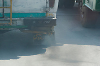 Diesel exhaust from a bus in Islamabad Pakistan