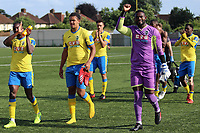 Haringey players acknowledge the crowd at the final whistle  during Haringey Borough vs Corinthian Casuals, BetVictor League Premier Division Football at Coles Park Stadium on 10th August 2019