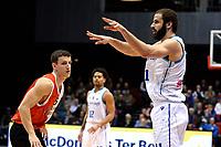 GRONINGEN - Basketbal, Donar - Feyenoord,  beker ,seizoen 2019-2020, 22-01-2020,  overgespeelde bekerwedstrijd, Donar speler Shane Hammink bezweert de bal