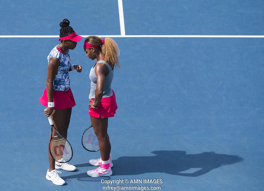 SERENA WILLIAMS (USA), VENUS WILLIAMS (USA)<br /> The US Open Tennis Championships 2014 - USTA Billie Jean King National Tennis Centre -  Flushing - New York - USA -   ATP - ITF -WTA  2014  - Grand Slam - USA  31ST August 2014. <br /> <br /> &copy; AMN IMAGES