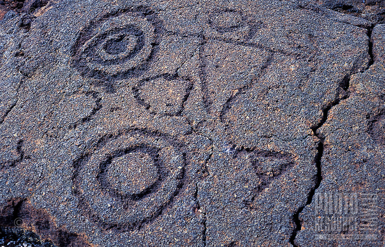 Petroglyphs in the Kaupulehu district