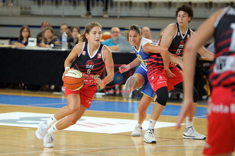XXVIII Lliga Catalana Femenina 2016.<br /> Cadi La Seu vs Spar Citylift Girona: 71-57.<br /> Roso Buch.