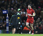 Anguish for Alex Cuthbert of Wales after being sin binned - RBS 6Nations 2015 - Wales  vs England - Millennium Stadium - Cardiff - Wales - 6th February 2015 - Picture Simon Bellis/Sportimage