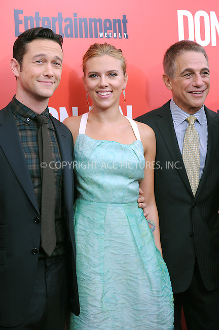 WWW.ACEPIXS.COM<br /> September 12, 2013...New York City<br /> <br /> Scarlett Johansson, Joseph Gordon-Levitt and Tony Danza attending 'Don Jon' New York Premiere at SVA Theater on September 12, 2013 in New York City.<br /> <br /> Please byline: Kristin Callahan/Ace Pictures<br /> <br /> Ace Pictures, Inc: ..tel: (212) 243 8787 or (646) 769 0430..e-mail: info@acepixs.com..web: http://www.acepixs.com