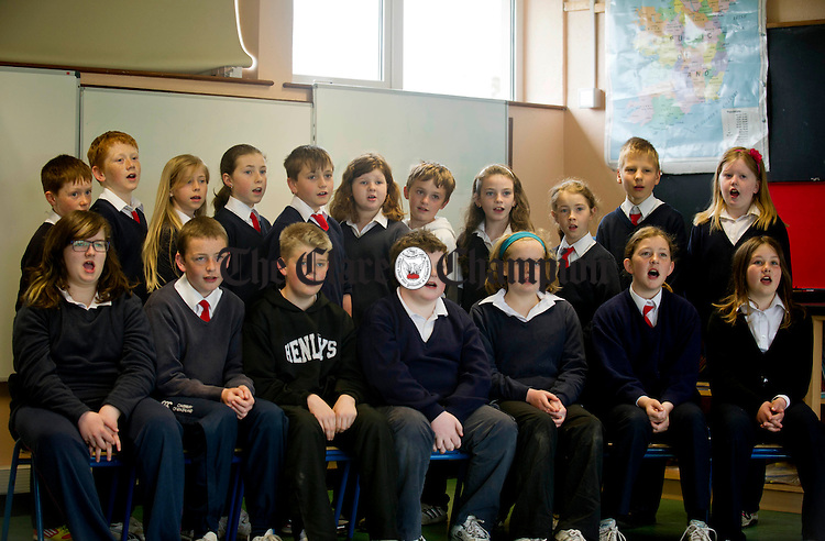Singing practice gets underway at New Quay National School. Photograph by Declan Monaghan