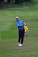 Greame McDowell (NIR) on the 18th fairway during Round 3 of the Maybank Malaysian Open at the Kuala Lumpur Golf & Country Club on Saturday 7th February 2015.<br /> Picture:  Thos Caffrey / www.golffile.ie