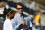 08 November 2009: UNC head coach Anson Dorrance with injured player Nikki Washington. The University of North Carolina Tar Heels defeated the Florida State University Seminoles 3-0 at WakeMed Stadium in Cary, North Carolina in the Atlantic Coast Conference Women's Soccer Tournament Championship game.
