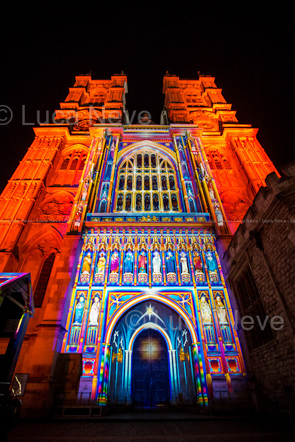 London, 16/01/2016. Second day of the four-day festival &quot;Lumiere London&quot;. From the organisers Facebook page: &lt;&lt;[&hellip;] Light installations by 30 leading artists will illuminate the capital's buildings and streets across 4 main areas: - King's Cross; - Mayfair; - Piccadilly, Regent Street, and St James's; - Trafalgar Square and Westminster. [&hellip;]&gt;&gt;.<br /> <br /> For more information please click here: http://www.lumiere-festival.com/